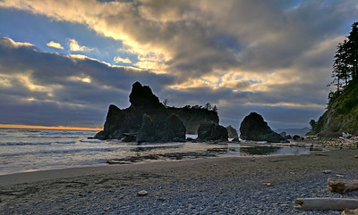 Olympic Ruby Beach Sunset 2