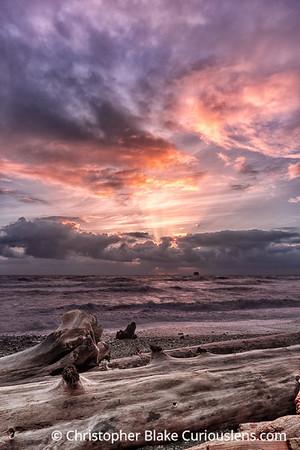 Rialto Beach Sunset Rays