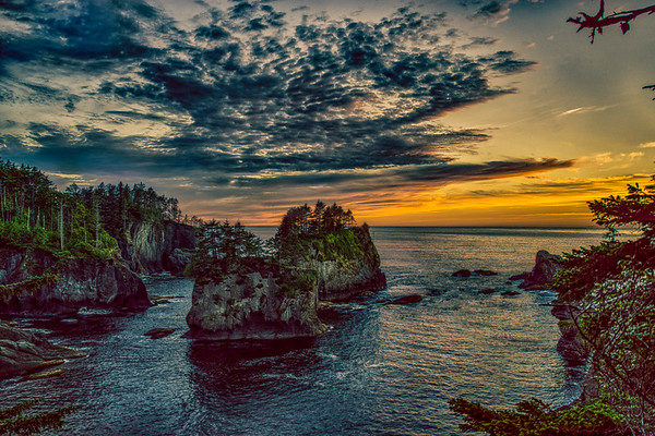 Cape Flattery Cliffs sunset
