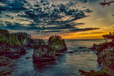 Cape Flattery Cliffs sunset