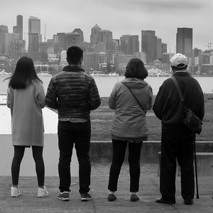 Viewing Seattle from Gas Works Park