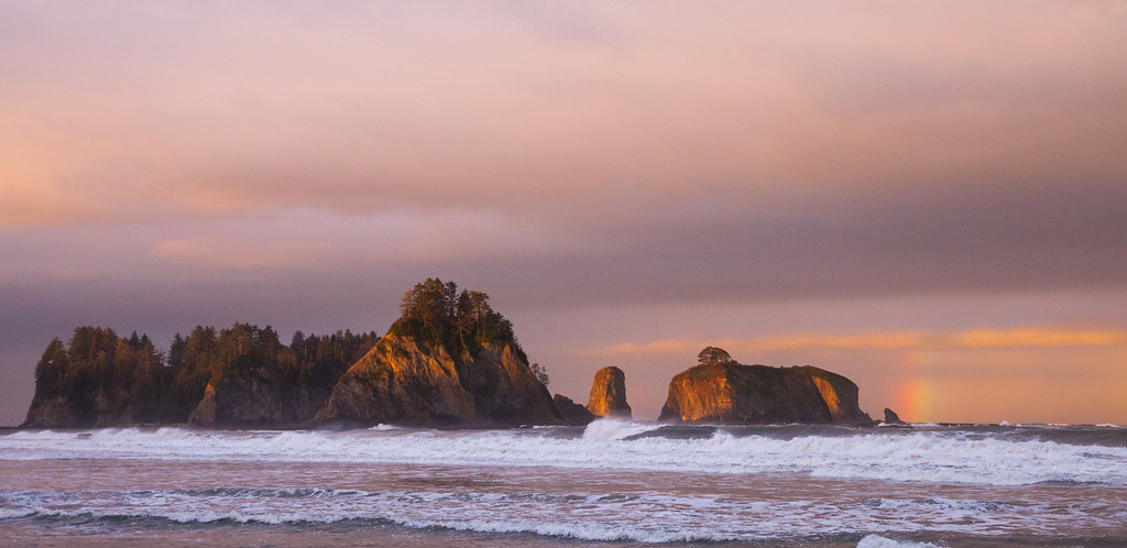 Sunrise at Rialto Beach