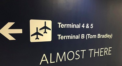 I do a lot of walking from terminal to terminal just for the exercise.
