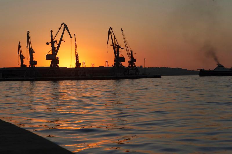 Sunrise on the Caspian Sea.