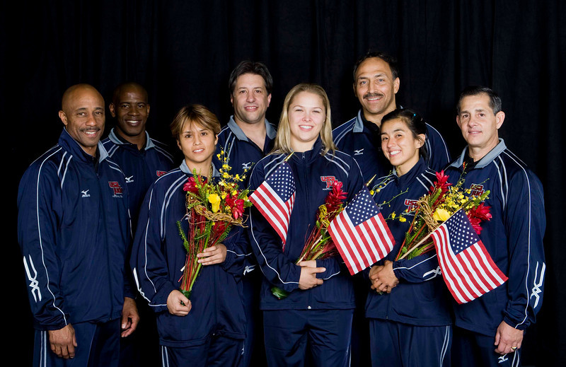 2008 USA Olympic Womens Judo Team & Coaches 8Y2T2303