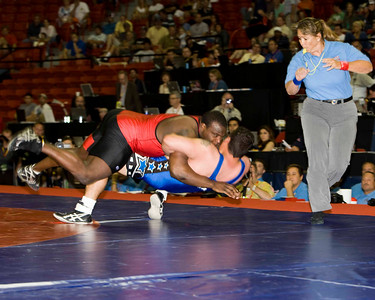 Mens Greco-Roman 120 Kg Olympic Representative Champion - Dremiel Byers (US Army) def. Timothy Taylor (US Army)