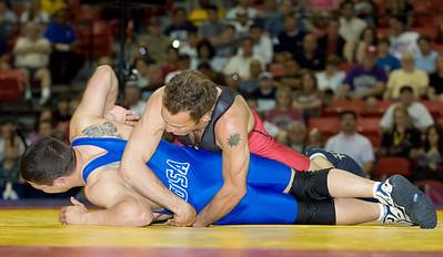 Greco-Roman Championships, 60kg: Joe Betterman (NYAC) def. Glenn Garrison (Army)