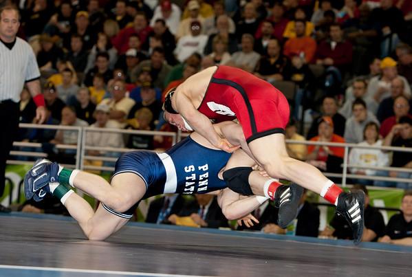 2010 NCAA 165 Champion, Andrew Howe (Wisconsin) def. Dan Vallimont (Penn State)