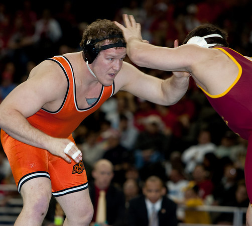 2010 NCAA Hwt Champion, David Zabriskie (Iowa State) def. Jared Rosholt (Okla State)