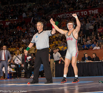 141 NCAA Champion, Logan Stieber (Ohio St.) def. Devin Carter (Va. Tech)