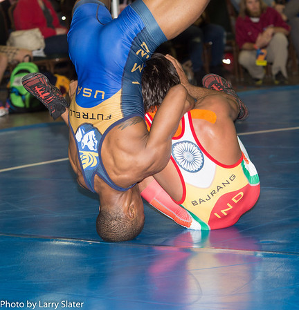 USA v. India, exhibition, 2014 NCAA Wrestling Championships