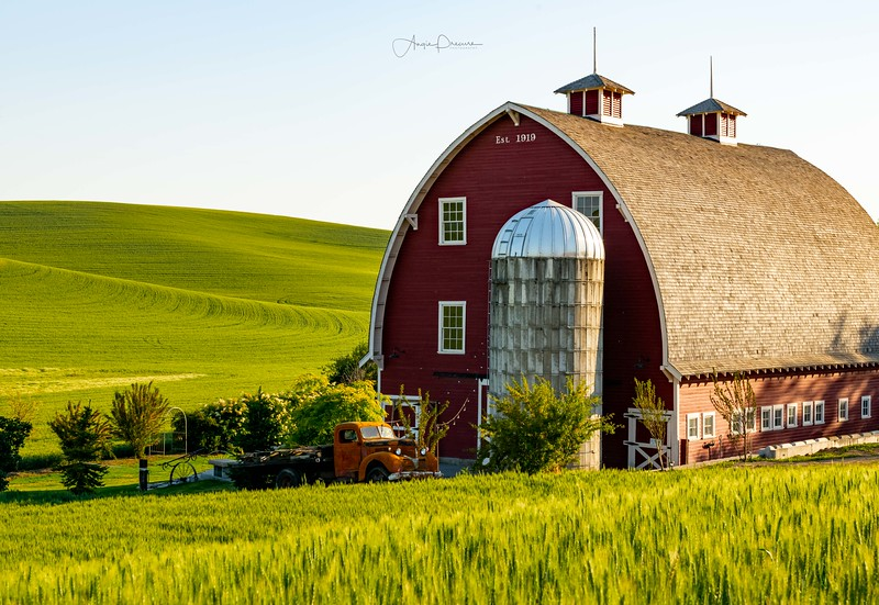Palouse County Red Barn