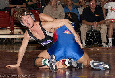 157 lbs Jason Welch, Northwestern  vs  Ganbayar Sanjaa, American