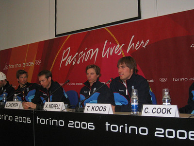 U.S. Olympic Cross Country Team at the arrival press conference