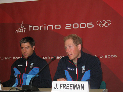 U.S. Olympic Cross Country Team's Chris Cook and Justin Freeman at the arrival press conference