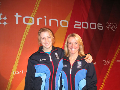 First time Olympian Hannah Kearney and 2002 Olympic silver medalist Shannon Bahrke