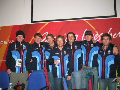 U.S. Olympic Nordic Combined Team and Olympic Ski Jumper Anders Johnson at the at the arrival press conference