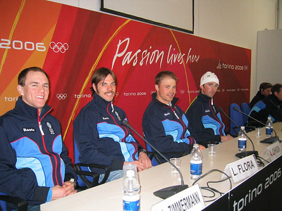 U.S. Olympic Cross Country Team at their arriv.al press conference