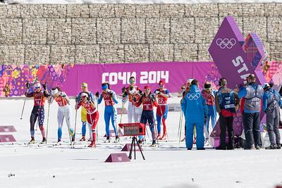 Kikkan Randall 2014 Olympic Winter Games - Sochi, Russia. Women's Cross Country 4x5 Team Relay  Photo: Sarah Brunson/U.S. Ski Team