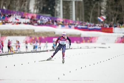 Kikkan Randall 2014 Olympic Winter Games - Sochi, Russia. Women's skate sprint Photo: Sarah Brunson/U.S. Ski Team