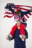 David Wise and Maddie Bowman<br /> 2014 Olympic Winter Games - Sochi, Russia.<br /> Women's halfpipe skiing<br /> Photo: Sarah Brunson/U.S. Ski Team