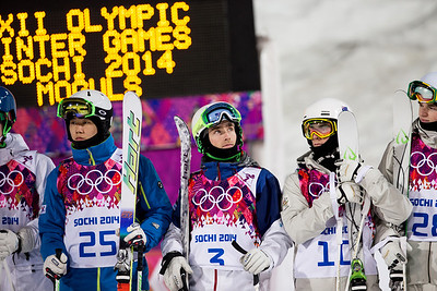 Pat Deneen (bib number 3) 2014 Olympic Winter Games - Sochi, Russia. Men's moguls Photo: Sarah Brunson/U.S. Ski Team