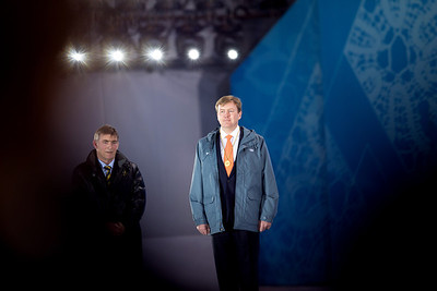 King Willem-Alexander, King of the Netherlands,  2014 Olympic Winter Games - Sochi, Russia. Medals ceremonies on February 9th. Photo: Sarah Brunson/USSA