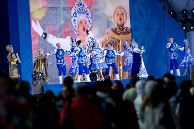 2014 Olympic Winter Games - Sochi, Russia. Medals ceremonies on February 9th. Photo: Sarah Brunson/USSA