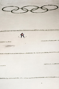 2014 Olympic Winter Games - Sochi, Russia. Historic first Olympic Women's Ski Jumping competition debut. Photo: Sarah Brunson/U.S. Ski Team