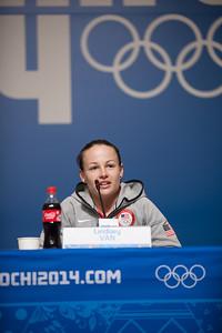 Lindsey Van 2014 Olympic Winter Games - Sochi, Russia. Women's ski jumping press conference Photo: Sarah Brunson/U.S. Ski Team