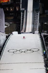Sarah Hendrickson 2014 Olympic Winter Games - Sochi, Russia. Historic first Olympic Women's Ski Jumping competition debut. Photo: Sarah Brunson/U.S. Ski Team