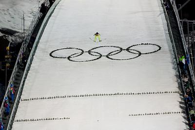 Jessica Jerome 2014 Olympic Winter Games - Sochi, Russia. Historic first Olympic Women's Ski Jumping competition debut. Photo: Sarah Brunson/U.S. Ski Team