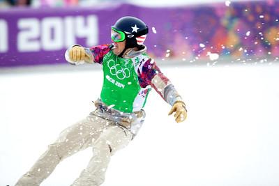 Bronze medalist, Alex Deibold 2014 Olympic Winter Games - Sochi, Russia. Men's Snowboardcross Photo: Sarah Brunson/U.S. Snowboarding