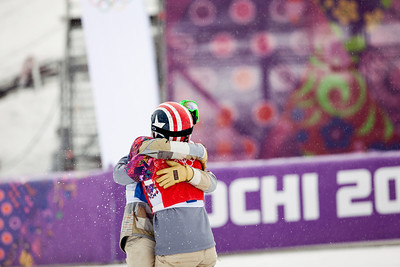 Alex Deibold and Trevor Jacob 2014 Olympic Winter Games - Sochi, Russia. Men's Snowboardcross Photo: Sarah Brunson/U.S. Snowboarding