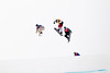 Alex Diebold, USA (blue bib), Kevin Hill, CA (yellow bib), Alex Pullin, AUS, (red bib)<br /> 2014 Olympic Winter Games - Sochi, Russia.<br /> Men's Snowboardcross<br /> Photo: Sarah Brunson/U.S. Snowboarding