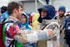 Head U.S. Snowboarding snowboardcross coach, Peter Foley with bronze medalist, Alex Diebold<br /> 2014 Olympic Winter Games - Sochi, Russia.<br /> Men's Snowboardcross<br /> Photo: Sarah Brunson/U.S. Snowboarding