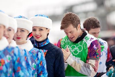 Snowboardcross bronze medalist, Alex Diebold 2014 Olympic Winter Games - Sochi, Russia. Men's Snowboardcross Photo: Sarah Brunson/U.S. Snowboarding
