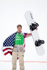 Snowboardcross bronze medalist, Alex Diebold<br /> 2014 Olympic Winter Games - Sochi, Russia.<br /> Men's Snowboardcross<br /> Photo: Sarah Brunson/U.S. Snowboarding