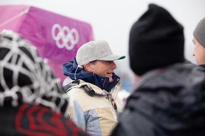 Head U.S. Snowboarding snowboardcross coach, Peter Foley 2014 Olympic Winter Games - Sochi, Russia. Men's Snowboardcross Photo: Sarah Brunson/U.S. Snowboarding