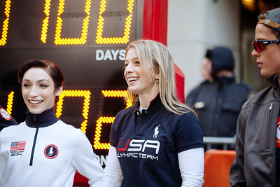 Hannah Kearney and Alex Schlopy 100 Days Out from the 2014 Winter Olympic Games in Sochi TODAY Show, New York City Photo: Sarah Brunson/USSA