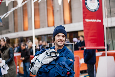 Louie Vito 100 Days Out from the 2014 Winter Olympic Games in Sochi TODAY Show, New York City Photo: Sarah Brunson/USSA