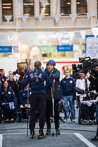 Billy Demong and Matt Lauer 100 Days Out from the 2014 Winter Olympic Games in Sochi TODAY Show, New York Photo: Sarah Brunson/USSA