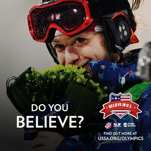 Believe In U.S. The USSA's all-encompassing rallying cry that broadcasts to the world that it takes an entire team of passionate individuals to make our U.S. athletes' Olympic dreams come true. Images © Getty Images, layout: USSA
