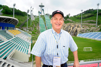 USSA President and CEO Bill Marolt visits the Alpensia Nordic Center one of the 2018 Olympic venues at PyeongChang, South Korea. Alpensia will be the main center for the 2018 Olympics, site of the opening and closing ceremonies. (USSA/Tom Kelly)