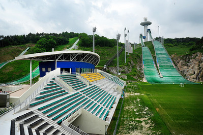 Alpensia ski jumping stadium, one of 2018 Olympic venues at Pyeongchang, South Korea. (USSA/Tom Kelly)