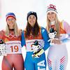 Ragnhild Mowinckel, Sofia Goggia and Lindsey Vonn<br /> Alpine Downhill<br /> 2018 Olympic Winter Games in PyeongChang, Korea<br /> Photo: Sarah Brunson/U.S. Ski & Snowboard