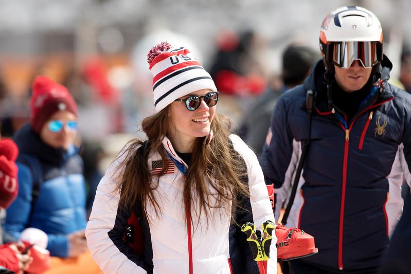 Breezy Johnson<br /> Alpine Downhill<br /> 2018 Olympic Winter Games in PyeongChang, Korea<br /> Photo: Sarah Brunson/U.S. Ski & Snowboard