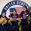 Gus Kenworthy, Nick Goepper, Alex Hall and McRae Wililams<br /> Olympic Processing<br /> 2018 Olympic Winter Games in PyeongChang, Korea<br /> Photo: Sarah Brunson/U.S. Ski & Snowboard