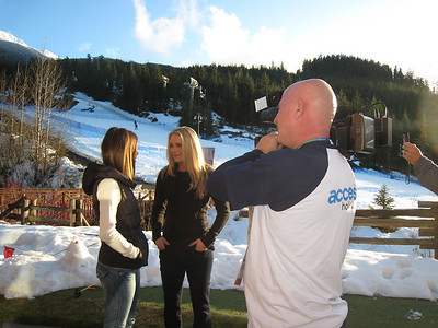 Lindsey Vonn interviews with Maria Menounos of NBC's Access Hollywood (Doug Haney/U.S. Ski Team)