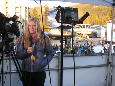 Lindsey Vonn on NBC's Weekend TODAY following her bronze medal performance in women's super G (Doug Haney/U.S. Ski Team)